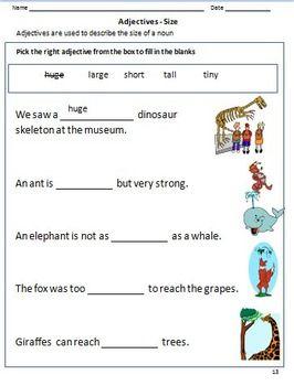 Adjectives Worksheets For Grade 1 2 Google Classroom Distance Learning Adjective Worksheet 1st Grade Worksheets 2nd Grade Worksheets