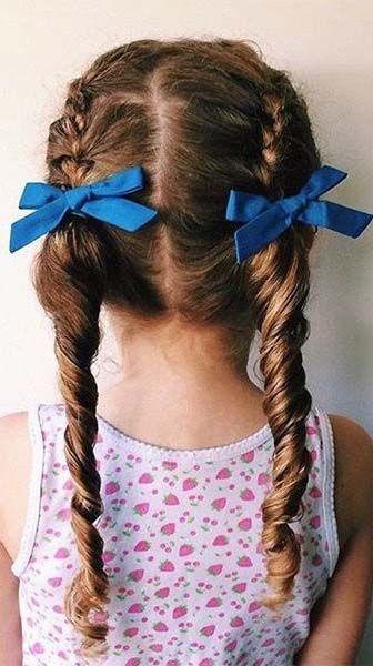 15 Idees De Couettes Irresistibles Pour Votre Petite Fille Cheveux Glamour Coiffures Filles Coupes Petite Fille