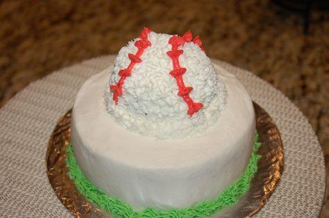 Smash cake, 1st birthday Baseball buttercream