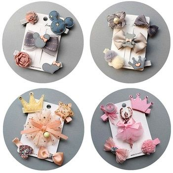 Wholesale 6pcs Mixed Lot Cartoon Baby Kid Girls Hair Pins Clips Hair Accessories