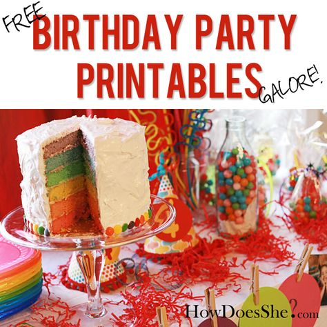 Free Birthday Party Printables GALORE