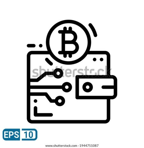 Bitcoin Icon Line Style Isolated On Stock Vector (Royalty Free) 1944751087