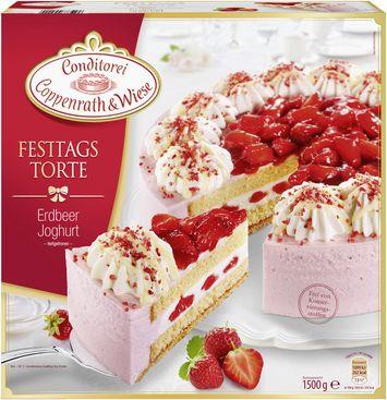 Festtagstorte Erdbeer Joghurt Von Coppenrath Wiese Buiskitboden Festtagstorten Torten Zu Ostern Osterkuchen