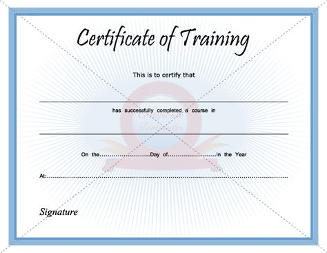 Certificate Of Training Certificate Template Pinterest - building completion certificate sample