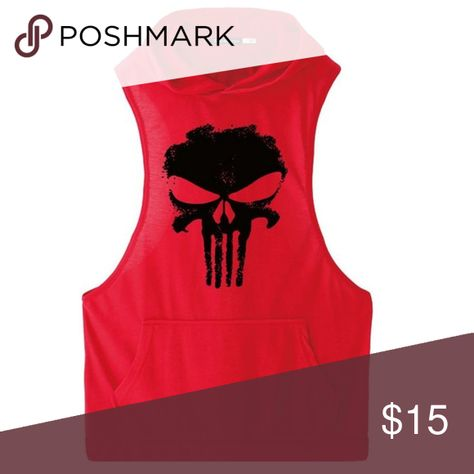 63fb381784864f Punisher Bodybuilding Workout Sleeveless Hoodie Brand new bodybuilding tank  top with hooded top. Style is perfect for viewing major upper body muscles  ...