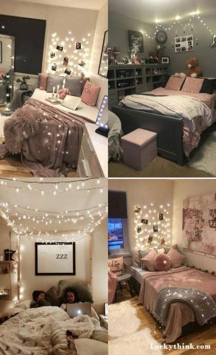 New Bedroom Ideas Tumblr Teenagers Fairy Lights 31 Ideas College Bedroom Apartment Cute Dorm Rooms Small Room Bedroom