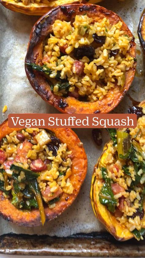 Vegan Stuffed Squash
