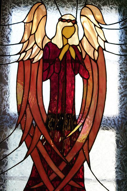 stained glass angel by creationsanew