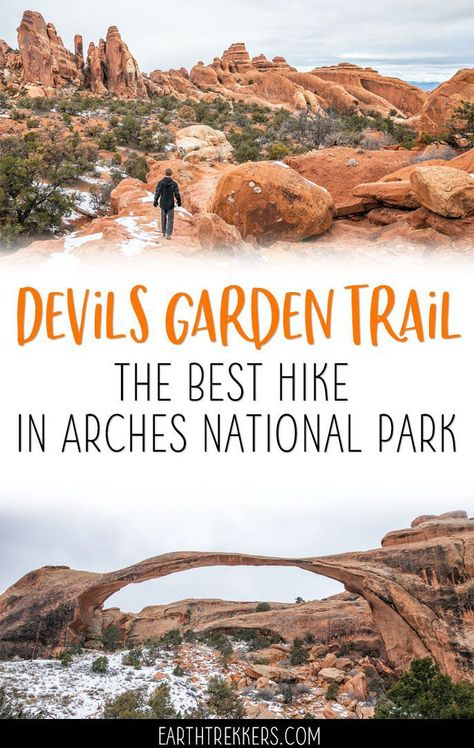 The Devils Garden Trail is the best hike in Arches National Park. Get all of the details in this article. Devils Garden Trail is the best hike in Arches National Park. Learn all about it in this article. Vacation Ideas, Utah Vacation, Vacation Places, Vacation Trips, Vacation Spots, The Journey, Bryce Canyon, Grand Canyon, Death Valley