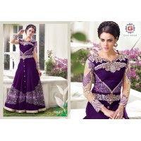 wedding salwar suits  colour-violet