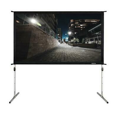 100 Inch 16 9 Fast Folding Screen Outdoor Indoor Portable Projector Screen C P5 In 2020 100 Inch Projector Screen Portable Projector Screen Projector Screen