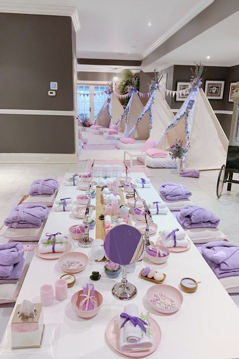 Spa & Sleepover Party Rentals - Products Provided — Dream & PartyYou can find Girl spa party and more on our website. Birthday Sleepover Ideas, Sleepover Activities, Birthday Party For Teens, 13th Birthday, Sleepover Party Ideas For Girls Tween, Sleep Over Party Ideas, Slumber Party Ideas, Sleepover Room, Paris Birthday