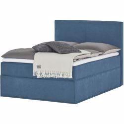 Boxspringbett Boxi Blau Masse Cm B 140 H 125 Betten Boxspringbetten Boxspringbetten 140x In 2020 Box Spring Bed Bedroom Storage Bed Springs