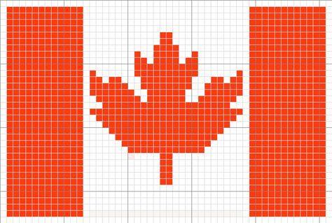 Canada Flag Png Kreuzstichmuster Strickvorlage Stickmotive