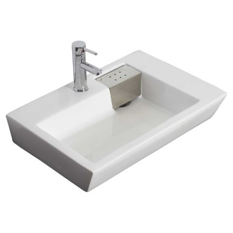 American Imaginations 705 26 In Wall Mount Single Hole Faucet