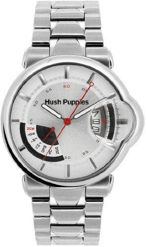 Hush Puppies Stainless Steel Case Gender Men Dial Silver Tone Movement Quartz Clasp Buckle Bandcolor Black Caseshape Round Measurement 44m Reloj