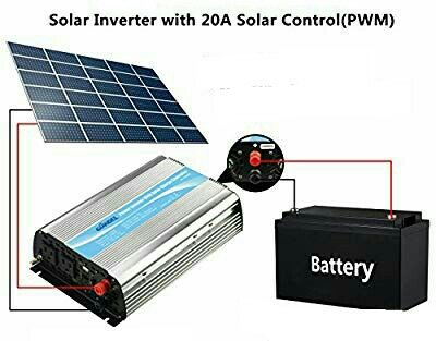 1200w Power Inverter With Solar Charge Controller By Giandel Voltage Converter Solar Inverter Solar
