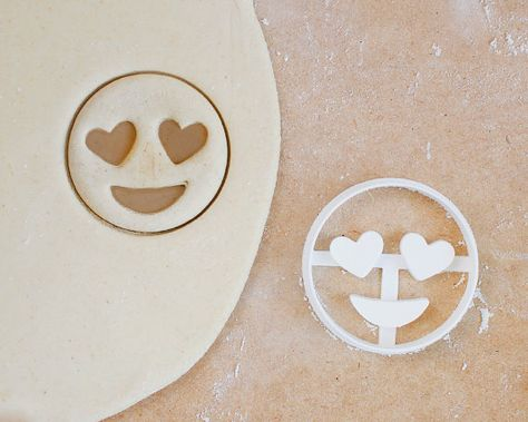 Heart Eyes Emoji Cookie Cutter Love Iphone Android Internet Kitsch Hipster Smiley Smiling Printed EUR) by RochaixCo