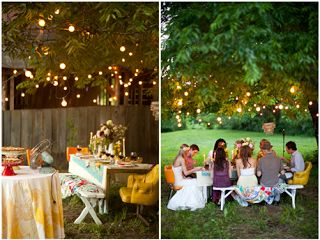 Bulb Strands Of Light For A Low Key Outdoor Reception On My Funtastically Good Life Wedding Lighting Up The Night Pinterest