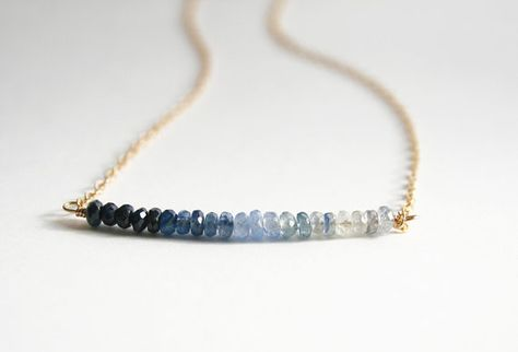 Ombre Jewelry September Birthstone Sapphire Necklace by laurastark, $65.00