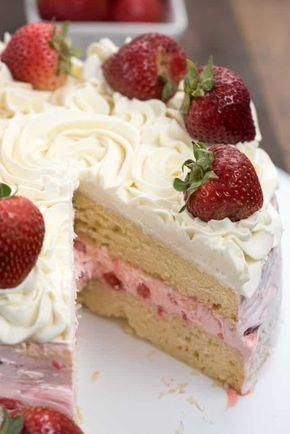 Strawberry Shortcake Layer Cake Is A Fun Cake For Strawberry