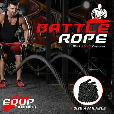 Ad Ebay 1 5 30ft Poly Dacron Battle Rope Exercise Workout Strength Training Undulation With Images Rope Exercises Strength Training Battle Ropes