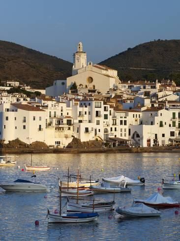 Photographic Print: Poster of Harbour and Town, Cadaques by Stuart Black : 24x18in