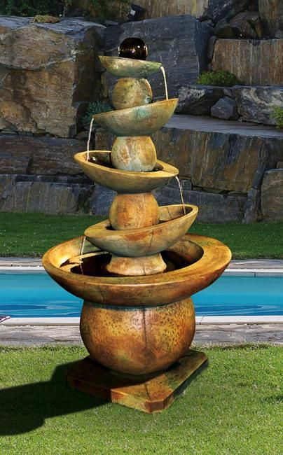 Equilibria Cast Stone Outdoor Fountain