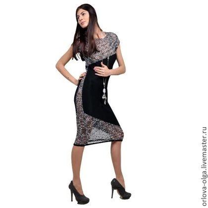 42615446fb62 Платья ручной работы. Ярмарка Мастеров - ручная работа. Купить Платье-800.  Handmade. Серый, платье летнее, платье вязаное