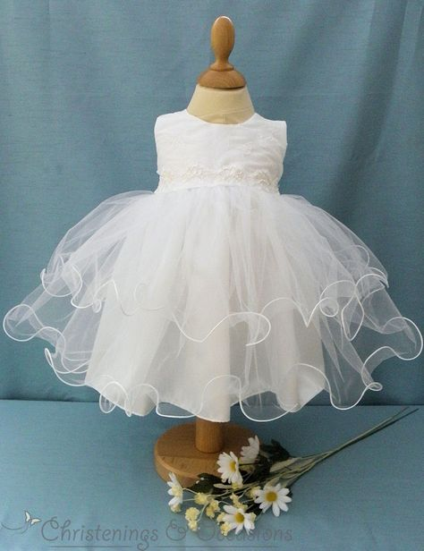 8f0d72693 Baby girls white christening special occasion dress and sequinned bolero  jacket - christeningsandoccasions.co.uk