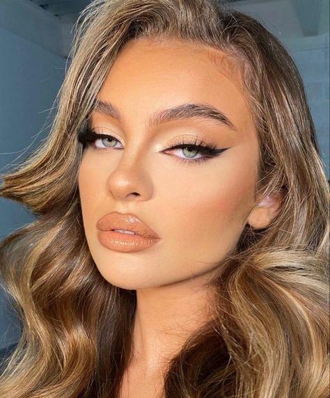 Glam Makeup Look, Makeup Eye Looks, Cute Makeup, Gorgeous Makeup, Pretty Makeup, Beauty Makeup, Hair Beauty, Simple Makeup Looks, Soft Eye Makeup