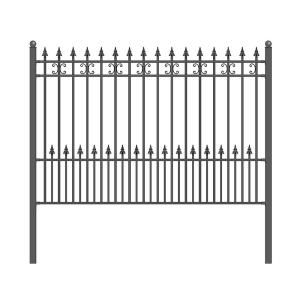 Mainstreet Aluminum Fence 3 4 In X 2 Ft X 6 Ft Black Aluminum Fence Puppy Guard Add On Panel 77331995 The Home Depot Steel Fence Panels Iron Fence Panels Steel Fence