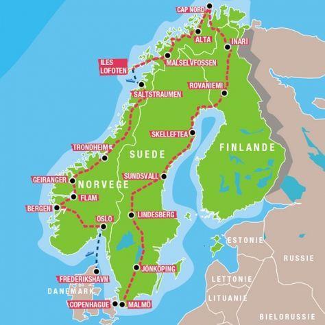 Carte Norvege Cap Nord.Carte Cap Nord Voyages En 2019 Voyage Norvege Norvege