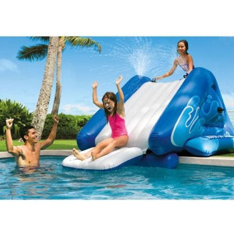 Intex Kids Summer Fun Swimming Pool Water Slide, Inflatable Outdoor Play Center…