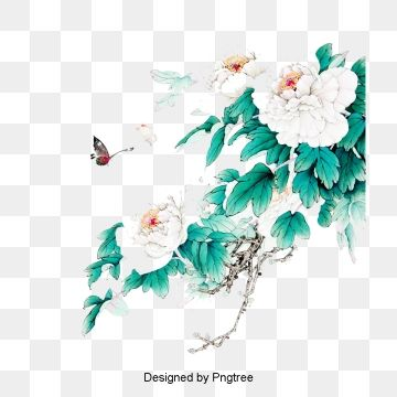 White Flower Green Leaf Design Material Png And Psd White Flower Png Flower Clipart Hd Flowers