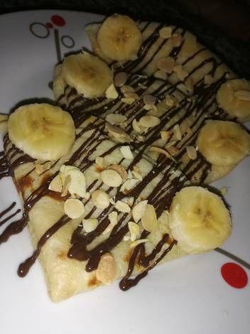كريب حلو بالشكلاطة و الموز