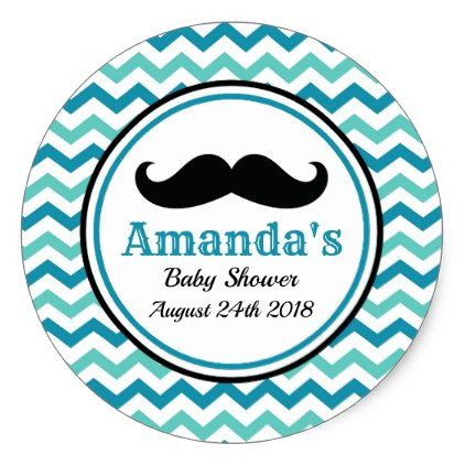 Mustache Little Man Baby Shower Stickers Zazzle Com Baby