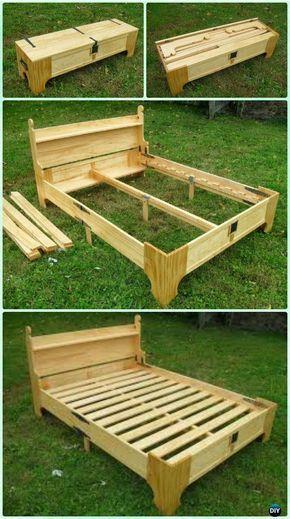 Diy E Saving Bed Frame Design Free Plans Instructions