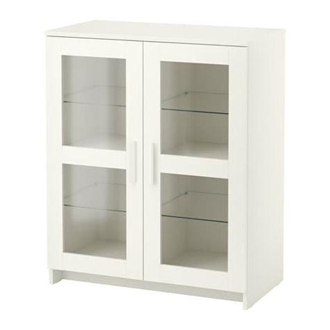 Armadio Ikea Bianco Due Ante.Brimnes Mobile Con Ante Vetro Bianco 78x95 Cm Ikea Idee Ikea