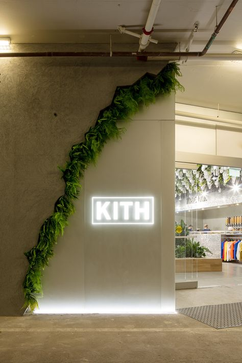 Snarkitecture creates bright shoe display in Kith's Los Angeles store