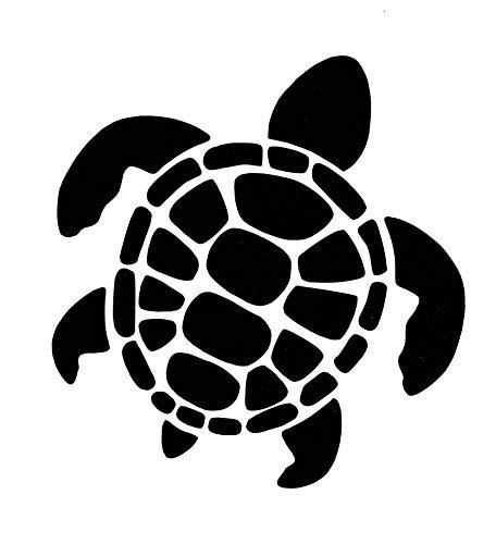 WickedGoodz Die Cut Sea Turtle Decal - Turtle Bumper Sticker, for Cups Tumblers Windows Laptops, Perfect Beach Gift