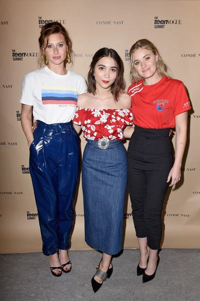 Aly Michalka, Rowan Blanchard, and AJ Michalka attend The Teen Vogue Summit LA.