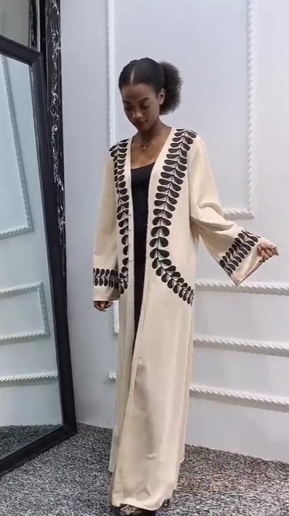Abaya Cardigan africain, imprimé, musulman, moyen orient et turquie, robe Abaya