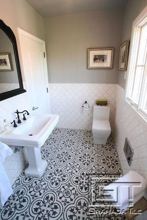 Best 25+ White Tile Bathrooms Ideas On Pinterest | Black Bathroom Floor  Tiles, Bathrooms And Mosaic Tile Bathrooms