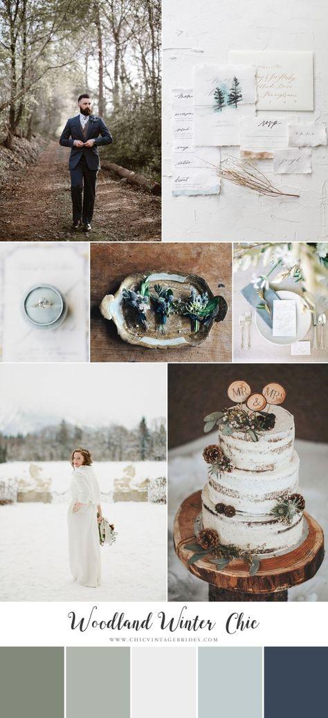 Woodland Wedding Chic - Snowy Winter Wedding Inspiration