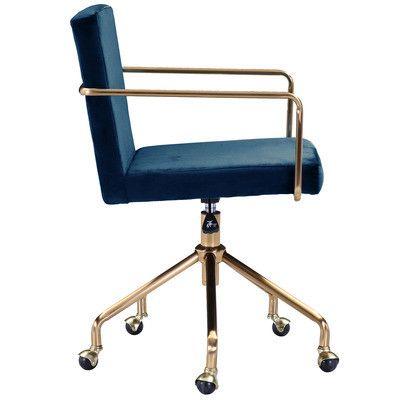 Milan Direct Camden Velvet Office Chair Reviews Temple Webster In 2020 Velvet Office Chair Office Chair Chair