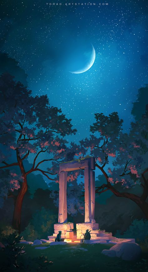 Arte do game Forest of Liars, do Umeshu Lovers Studio | THECAB - The Concept Art Blog