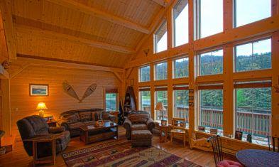 Custom Timber Frame Home & Interior Design, Seldovia, Alaska | Ceilings |  Pinterest | House