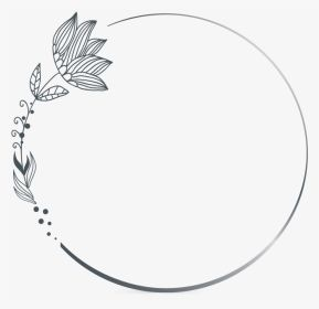 Png Clipart Photostock Vector Black And White Round Frame With Floral Hand Drawn Flower Silhouettes Copy Sp Flower Drawing Flower Silhouette Hand Drawn Flowers