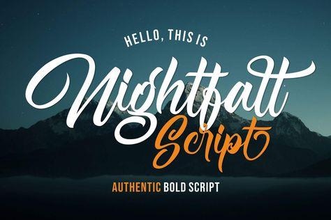 Premium Font, Bold Font, Script Font - Luxury Font Download PF73